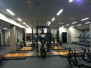 Atletica - treningssalen - dagen før åpning - 24 aug 2012